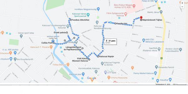 Gyalogos városnézés útvonaltervek